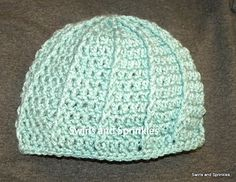 Ribbed Hat pattern by Becky Ferris