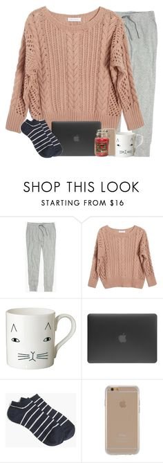 """qotd: when are you putting up your christmas tree?"" by madiweeksss ❤ liked on Polyvore featuring Madewell, Ryan Roche, Donna Wilson, Incase, J.Crew, Agent 18 and Yankee Candle"