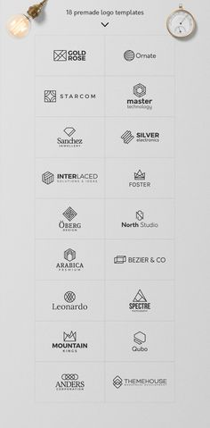 Logo Templates Product Images ~ Geometric Logos… ~ Creative Market