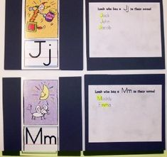 Letters in Name Check-in - During the first month of school, every child has to put his/her name in the pocket chart under yes or no. The question is - Does your name have a(n) LETTER in it? We go through the alphabet and change the letter each day.