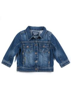 GUESS Kids Girls Toddler Denim Jacket, MEDIUM « Clothing Impulse