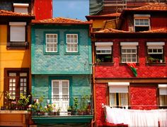 Portugal: Porto, Lisbon & the Algarve With Jan Taylor Colourful Buildings, Beautiful Buildings, Beautiful Places, Amazing Places, Photo Portugal, Spain And Portugal, Porto City, Zen House, Colorful Apartment