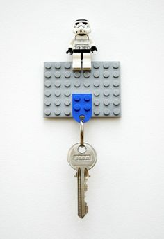 For a cute DIY Father's Day gift, make him a Lego key ring:)