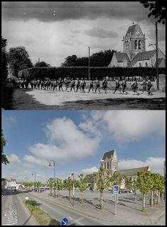 Truppe USA Entrano in Saint Mere Eglise #Normandia1944