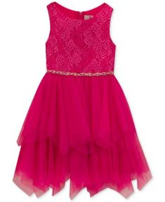 Rare Editions Glitter Lace-Bodice Dress, Toddler Girls