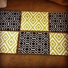 Canvas + Printed Fabric+ Hot Glue = Easy dorm decor | best stuff