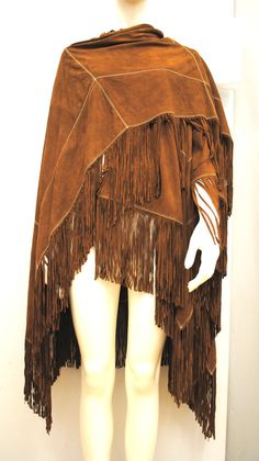 FENDI vintage 80s ALTA MODA Suede leather Cape by OnlyLuxury, €190.00