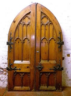 Gothic pitch pine doors