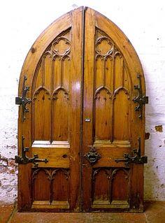 Gothic pitch pine doors