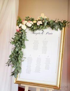 tablica z rozpisem gości