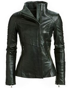 Womens Chicago Biker Leather Jacket ★ Motorcycle Jacket ★ Racer Jacket ★ 100% Genuine Lambskin Leather ★ YKK Zipper