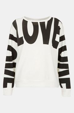 Topshop 'Love' Sweatshirt available at #Nordstrom