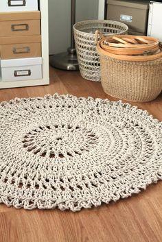 Handmade crochet rug.
