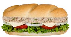 Mr. Hero's Tuna 'n Cheese!  Fresh tuna, mayo, celery, and Swiss-American cheese. Served with lettuce, tomato, onion, and Mr. Hero's original blend of Italian oil and spices on a fresh baked Orlando roll.  Also available as a Taste Buddy!