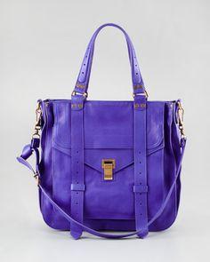 PROENZA SCHOULER Leather Tote Bag - Purple Rain.