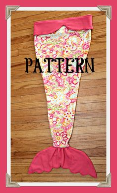 PDF TUTORIAL PATTERN Mermaid Tail Blanket by LavenderLilyDesign