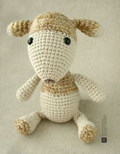 The sweet creature. This sweet little guy will put a smile on your face!    He is 10 tall.  Made with cotton and linen, he is stuffed with premium polyester toy filling.
