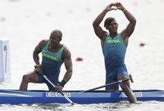 Erlon de Souza Silva e Isaquias Queiroz; prata;  C2 1.000m; canoagem (Foto…