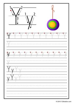 FREE Tracing Worksheet for Kids. Education Craft and Worksheet for Preschool,Toddler and Kindergarten. Learn to write the alphabet with 123 Kids Fun. Alphabet Writing Practice, Printable Alphabet Worksheets, Alphabet Tracing, Handwriting Worksheets, Tracing Worksheets, Alphabet Book, Kindergarten Worksheets, Free Printable, Alphabet Crafts