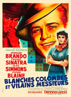 Guys and Dolls 1957 French Vintage Movie Poster