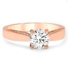 this is neat how the accents show front instead of top side. RR  Custom Wedding Rings   Brilliant Earth