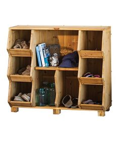 This Wood Nine-Cubby Shelf is perfect! #zulilyfinds