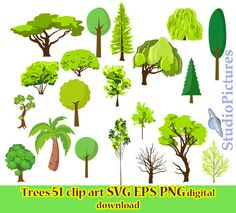 Tree SVG, tree sticker, tree clipart, tree vinyl decal, svg files for cricut INSTANT, clip art trees svg, tree logo, cliparts trees, SVG by StudioPictures on Etsy https://www.etsy.com/uk/listing/541545851/tree-svg-tree-sticker-tree-clipart-tree
