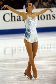 Alissa Czisny -White Figure Skating / Ice Skating dress inspiration for Sk8 Gr8 Designs. Swan Lake?
