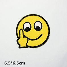 New to craftapplique on Etsy: you seefinger emoticon patch embroidered patch iron on patches iron on patch sew on patch (3.99 USD)