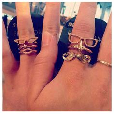 Fun stackable rings from Topshop
