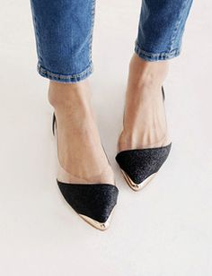 love these pointy flats. who can name the designer? please share!