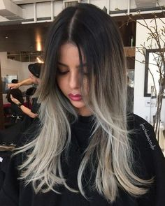 Dark+Brown+To+Ash+Blonde+Ombre
