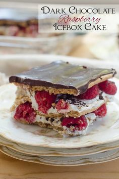 Dark Chocolate Raspberry Icebox Cake Recipe