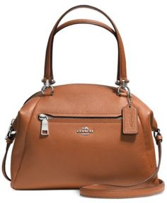 Crafted in soft, lightweight pebbled leather with a bit of sheen, this simple, gracefully curved shape distills the satchel its purest form. Very refined hardware complements the minimalist design; the slender strap detaches for multiple wearing options. Coach Handbags, Coach Purses, Purses And Bags, Satchel Handbags, Coach Bags, Bags Online Shopping, Online Bags, Sacs Design, Minimalist Bag