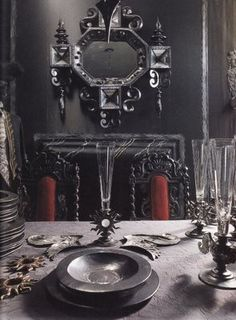 1000 images about goth dark decor on pinterest baroque for Gothic dining room design ideas