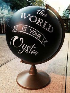 Magnifique globe inspiré par Créative et réalisé par une de nos formidable lectrice ! :))) Globe, Oysters, Diy, Speech Balloon, Bricolage, Diys, Handyman Projects, Do It Yourself, Crafting