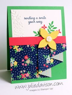 VIDEO & PDF: Pleated Paper Technique -- SNEAK PEEK new Love & Affection, Affectionately Yours, and Floral Affection from 2016-2017 Stampin' Up! Annual Catalog #stampinup #sneakpeek www.juliedavison.com