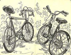 Susan Rudat sketchbook - bikes