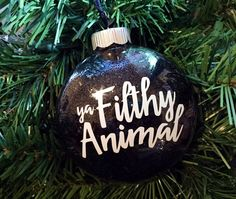 Merry Christmas, Ya Filthy Animal! Ornament Only Available In The Colors  Shown In The