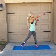 """""""Full Body Dumbbell Workout! double tap & tag your partner perform 12 reps each exercise for a total of 5 sets!"""""""