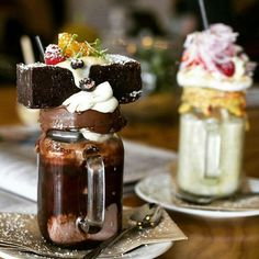 Wow look at those freakshakes! You go to @naughtyboycafe if you want a sugar…