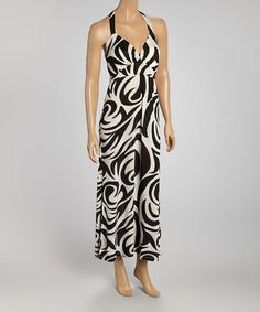 Black & White Swirl Sleeveless Dress