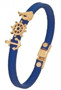 Accessories  https://sincerelysweetboutique.com/accessories.html #accessories #jewelry - Bracelet - Set Sail Nautical Charm Leather Bracelet in Navy