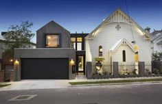 The transformation of this 1892 Gothic-style timber church into a contemporary residence includes a modern addition. Bagnato Architects designed the house located at 1 Hudson St. in the Moonee Ponds neighbourhood in Melbourne, Australia. Houses Architecture, Architecture Interiors, Architecture Design, Church Conversions, Kirchen, Contemporary Decor, Home Design, Interior Design, Design Homes