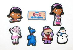 Here's a cute set of Doc McStuffins croc style shoe charms. However, they are great for crafting. These are super for centers of hair bows as well as other crafts. $5 a package.   Contact me at grandparentsof5@hotmail.com