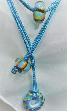 Színes kéklő üveggyöngy nyaklánc (jannaja) - Meska.hu Crochet Necklace, Jewelry, Fashion, Jewlery, Moda, Crochet Collar, Jewels, La Mode, Jewerly