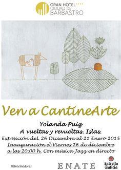 Cartel exposición Yolanda Puig. Ven a CantineArte