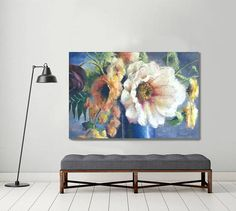 large floral painting original oil painting flower painting