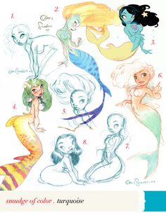 Chris Sanders (creator of Lilo and Stitch) draws some mermaids.
