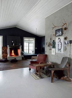 The rustic Norwegian log cabin hide-away. Bolina. Birgitta Wolfgang Drejer / Sisters Agency,